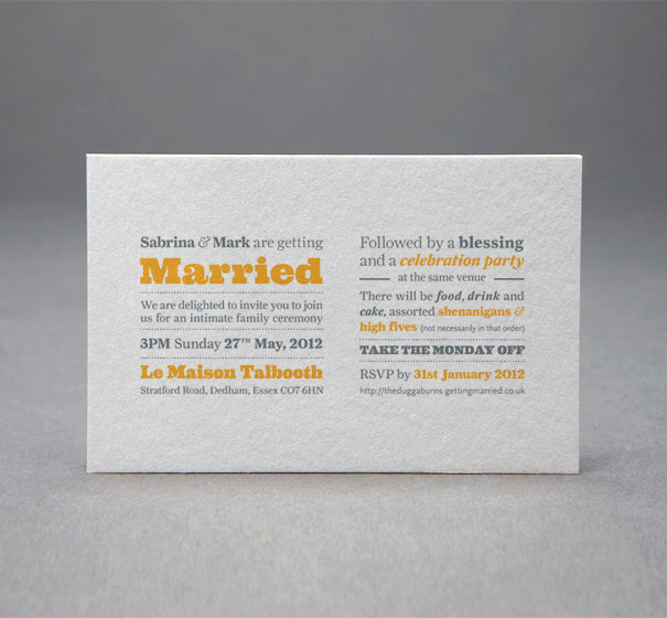 Day and evening event wedding invitations