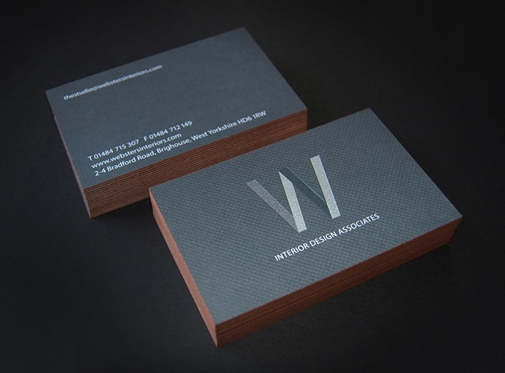 Websters interior designers lovely stationery curating the very best of stationery design for Interior designers business cards