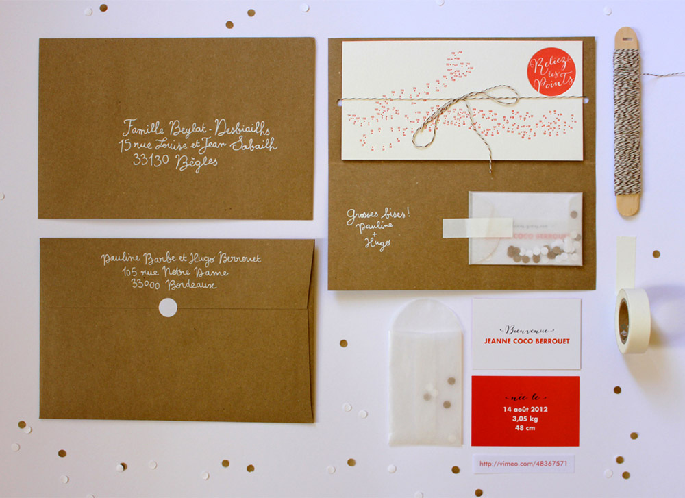 Jeanne Birth Announcement Lovely Stationery Curating the very – Birth Announcement Design