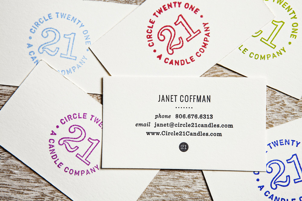 Letterpress lovely stationery curating the very best of circle 21 candles reheart Images