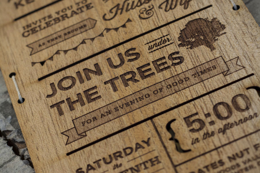invitation templates comments superb wooden wedding