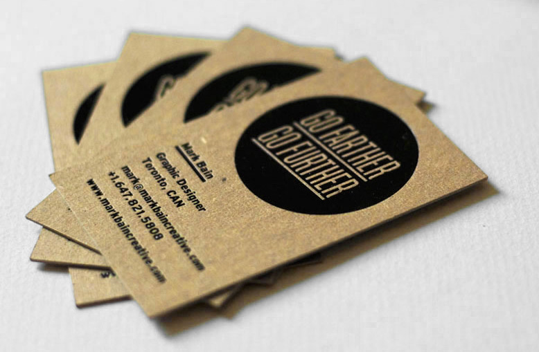 business card recycled paper - Khafre