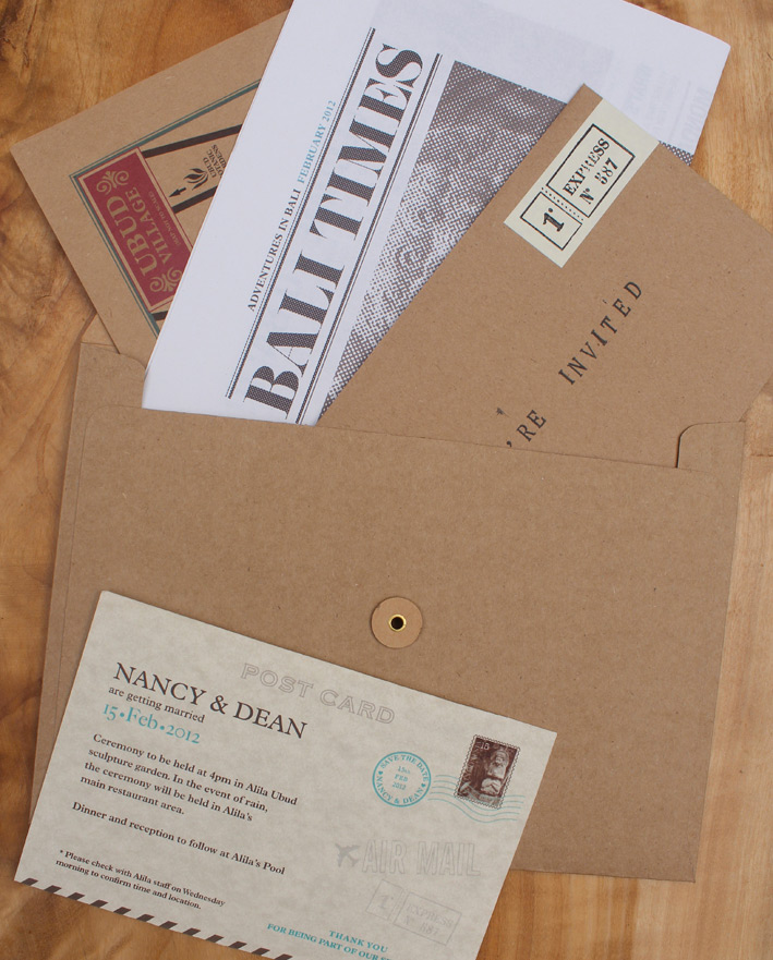 Nancy & Dean Wedding Invitation : Lovely Stationery . Curating the ...