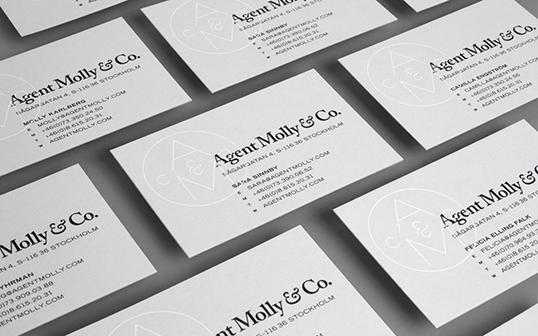 Business card lovely stationery curating the very best of agent molly co reheart Choice Image
