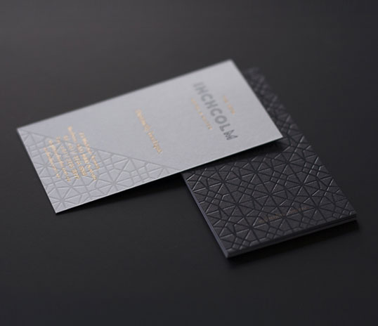 Business card lovely stationery curating the very best of inchcolm hotel reheart Choice Image